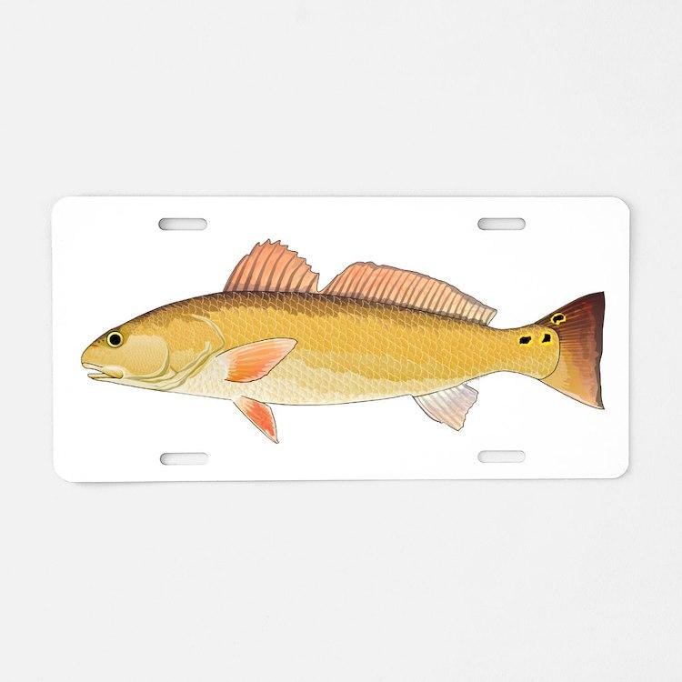 Redfish Red Drum Aluminum License Plate