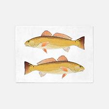 Redfish Red Drum 5'x7'Area Rug