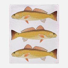 Redfish Red Drum Throw Blanket