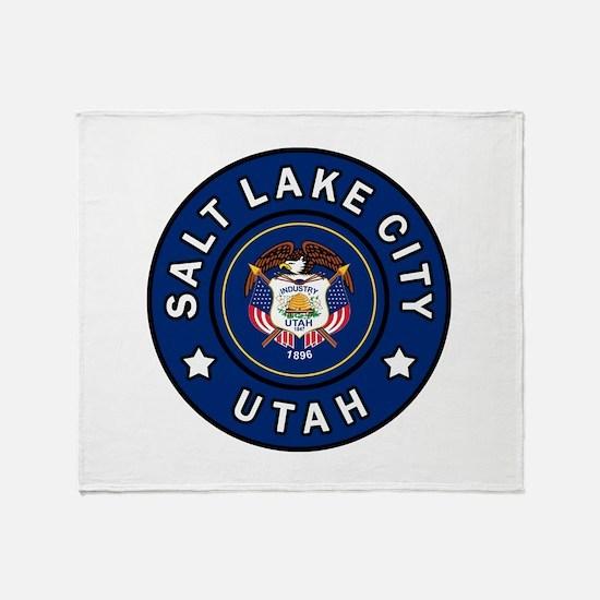 Salt Lake City Utah Throw Blanket