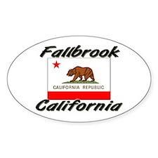 Fallbrook California Oval Decal