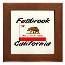 Fallbrook California Framed Tile
