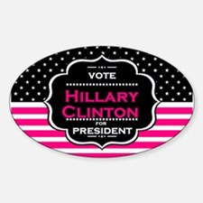 pink hillary clinton Decal