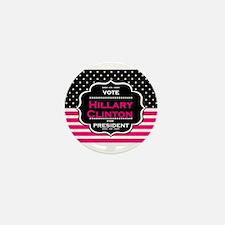 pink hillary clinton Mini Button