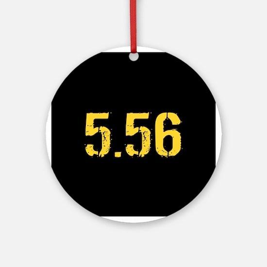 5.56 Ammo: Black & Gold Round Ornament
