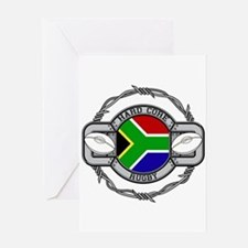 Hard Core South Africa Rugby Greeting Card