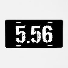 5.56 Ammo: Black Aluminum License Plate