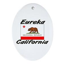 Eureka California Oval Ornament