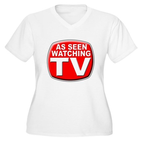 As Seen Women's Plus Size V-Neck T-Shirt