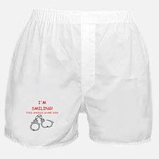bondage joke on gifts and t-shirts. Boxer Shorts