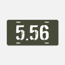 5.56 Ammo: Military Green Aluminum License Plate