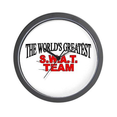 """The World's Greatest S.W.A.T. Team"" Wall Clock"