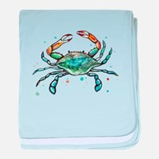 Maryland Blue Crab baby blanket