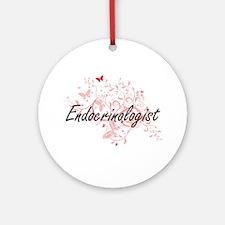 Endocrinologist Artistic Job Design Round Ornament
