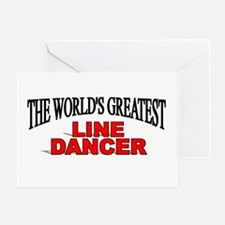 """The World's Greatest Line Dancer"" Greeting Card"