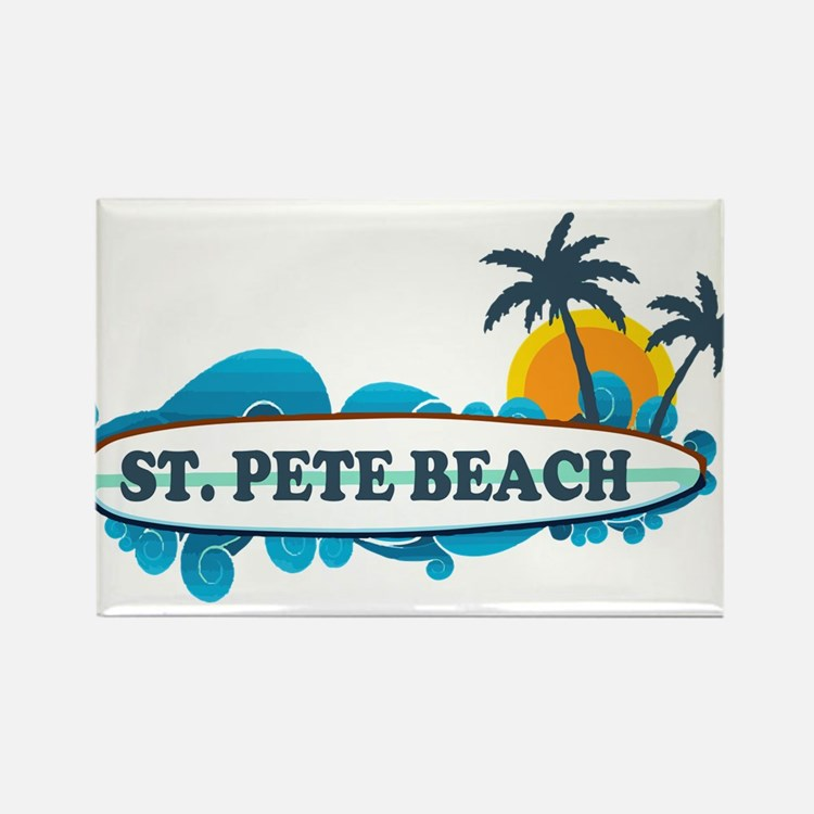 St. Pete Beach - Surf Design. Magnets