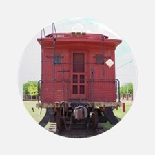 Red Caboose  Ornament (Round)