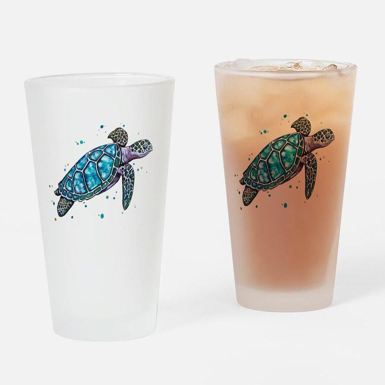 Cute Sea turtles Drinking Glass