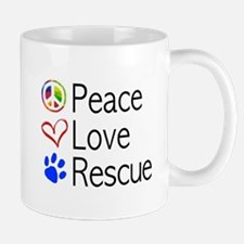 Peace Love Rescue Mugs
