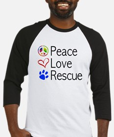 Peace Love Rescue Baseball Jersey