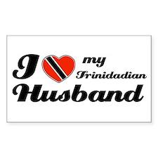 I love my Trinidadian Husband Sticker (Rectangular