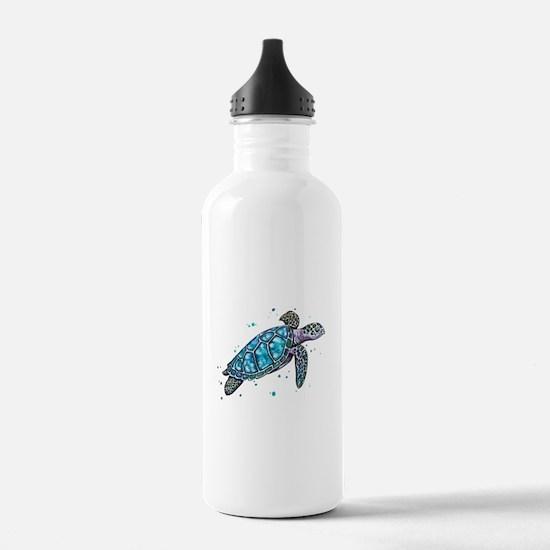 Sea Turtle Sports Water Bottle