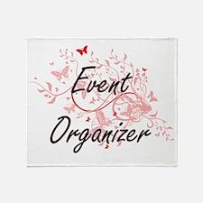 Event Organizer Artistic Job Design Throw Blanket