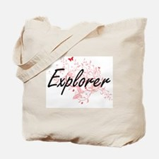 Explorer Artistic Job Design with Butterf Tote Bag