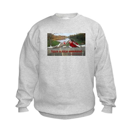 Nice Weekend Sock Monkey Kids Sweatshirt
