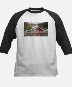 Nice Weekend Sock Monkey Kids Baseball Jersey