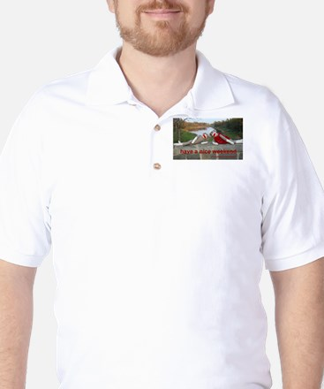 Nice Weekend Sock Monkey Golf Shirt