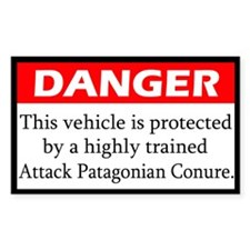 Danger Attack Patagonian Conure Decal