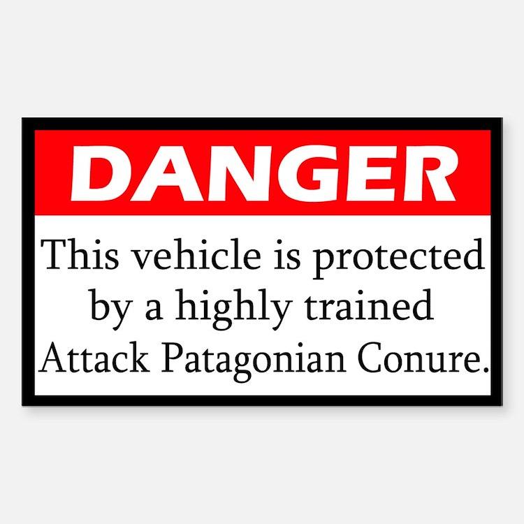 Danger Attack Patagonian Conure Decal