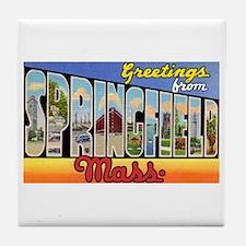 Springfield Massachusetts Greetings Tile Coaster