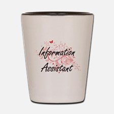 Information Assistant Artistic Job Desi Shot Glass