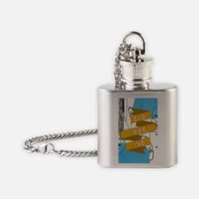 Cute Monkeying around Flask Necklace