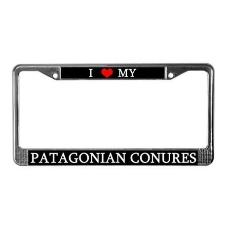 Love Patagonian Conures License Plate Frame
