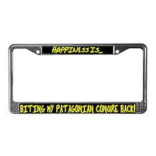 HI Biting Patagonian Conure License Plate Frame