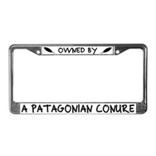 Owned by a Patagonian Conure License Plate Frame