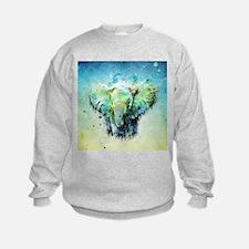 watercolor elephant Sweatshirt