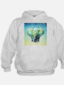 watercolor elephant Hoodie