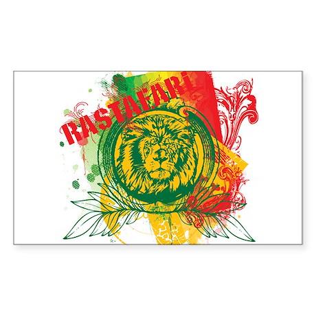 Rastafari Rectangle Sticker
