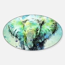 watercolor elephant Decal