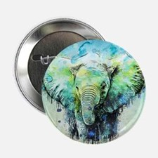 """watercolor elephant 2.25"""" Button (10 pack)"""