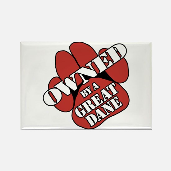 Great Dane OWNED Rectangle Magnet