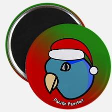 Cartoon Blue Parrotlet Christmas Magnet