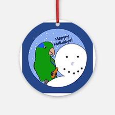 Snowman Parrotlet Christmas Ornament