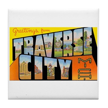 Traverse City Michigan Tile Coaster