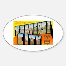 Traverse City Michigan Oval Decal