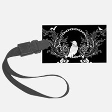 Awesome crow and flowers Luggage Tag